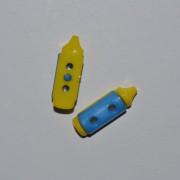 Пуговица Карандаш 20мм*7мм Желто-синий