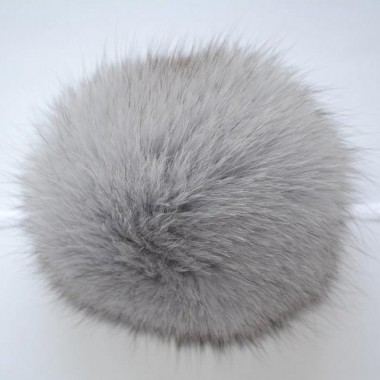 Помпон (песец) 12-14см Серый
