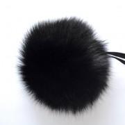 Помпон (песец) 12-14см Черный