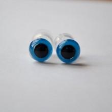 Глазки для игрушек винтовые. Цвет Синий