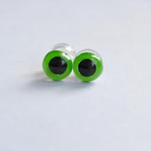 Глазки для игрушек винтовые. Цвет Зеленый