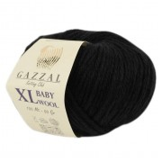 Gazzal BABY WOOL XL (Газзал Бэби Вул ХЛ) 803 Черный